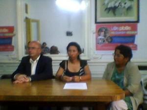 Vecinos de Malvinas en conferencia de prensa