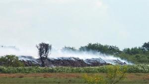 Vista parcial del incendio