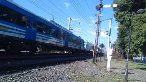 Tren sin protección