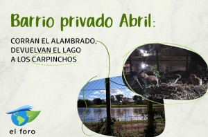 Flyer Abril carpincho